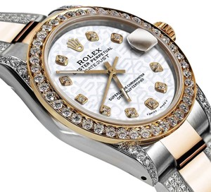 Rolex Women's 31mm Oyster Perpetual Datejust White Jubilee Diamonds Dial