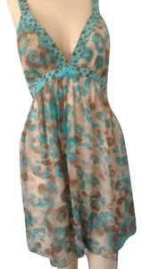 Milly of New York short dress Turqoise with beige on Tradesy