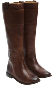 Frye Leather Riding Boot Dark Brown Boots