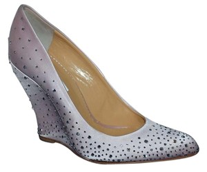 Oscar de la Renta Made In Italy Satin Swarovski Crystals Pink Pumps