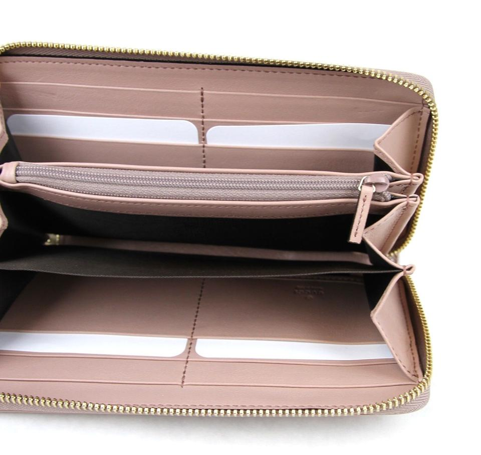 0d4bb0dded7 Gucci Soho Soft Patent Leather Zip Around Clutch Powder Pink 308004 6812  Wallet