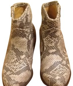 Coconuts Beige And Brown And Cream Boots