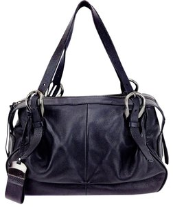 Francesco Biasia Textured Leather Buckles Shoulder Bag