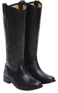 Frye Leather Melissa Button Black Boots