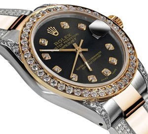 Rolex Women's 31mm Oyster Perpetual Datejust Diamond Black Chocolate Dial