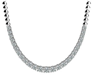Avi and Co 2.00 cttw Round Cut Diamond Graduated Tennis Necklace F-G/VS-SI 14K White Gold