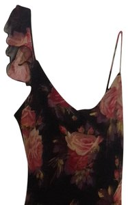 Reduced. Black flower print Maxi Dress by Betsey Johnson Betsy