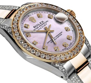 Rolex Women's 31mm Oyster Perpetual Datejust Custom Pink Diamonds DialAccent