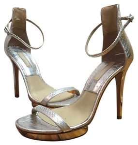 Michael Kors Mirrored Platform Silver Formal