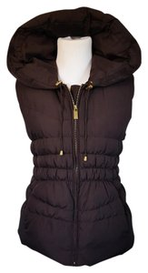 Michael Kors Puffer Down Feathers Hooded Cinched Vest