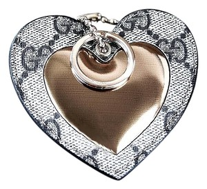 b0bc5e71cf568d Gucci Gucci Heart Key Holder Bag Charm Puffy New in Box Authentic  230