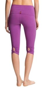 Hard Tail Shirred Button Back Knee Legging