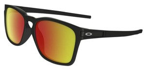 Oakley Oakley OO9358-03 Men's Latch Black/Ruby Lens Sunglasses
