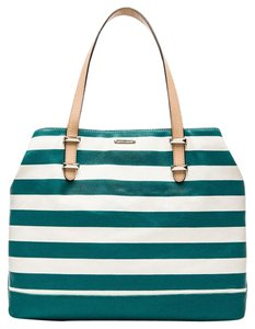 Rebecca Minkoff Beach Swim Tote in Teal/White