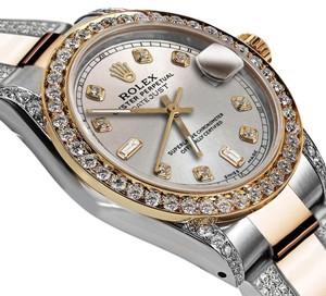 Rolex Women's 31mm Oyster Perpetual Datejust Diamond Silver Dial Accent