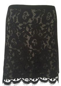 Theory Mini Skirt Black lace with black silk lining