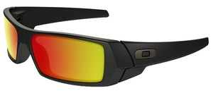 Oakley Oakley 26-246 Men's Gascan Black/Ruby Lens Sunglasses