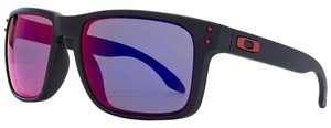 Oakley Oakley Mens OO9102-36 Holbrook Matte Black Red Iridium Sunglasses
