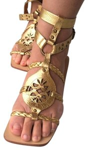 Juicy Couture Gladiator Gold Sandals