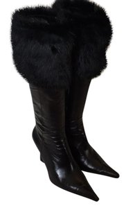 Luichiny Black with Fur Trim Boots