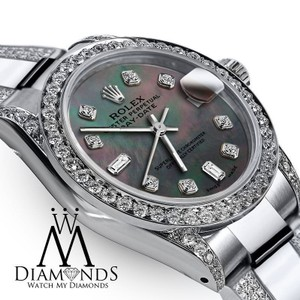 Rolex Women's 26mm Rolex Oyster Perpetual Datejust Diamond Custom