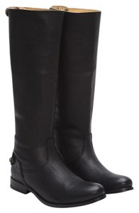 Frye Leather Tall Button Black Boots