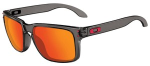 Oakley Oakley OO9244-04 Grey Smoke/Ruby Lens Sunglasses