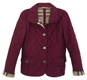 Burberry Quilted Quilted Plum Jacket