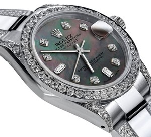 Rolex Women's 26mm Oyster Perpetual Datejust Diamond Custom set Color dial