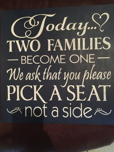 Pick A Side Wedding Sign