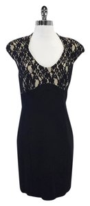 Ted Baker short dress Black Floral Lace Top Cap Sleeve on Tradesy