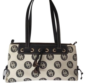 Dooney & Bourke Tote in Black and Winter White