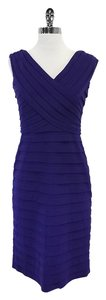 Adrianna Papell short dress Royal Purple Pleated on Tradesy