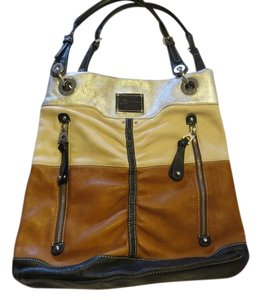 B. Makowsky B. Pocketbook Leather Shoulder Bag