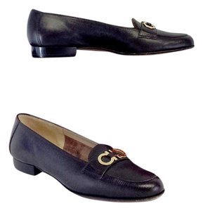 Salvatore Ferragamo Brown Leather Loafers Flats