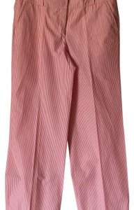 Burberry London Wide Leg Pants Red stripe