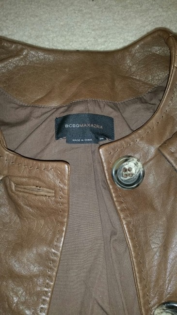 BCBG Max Azria Brown Leather Jacket
