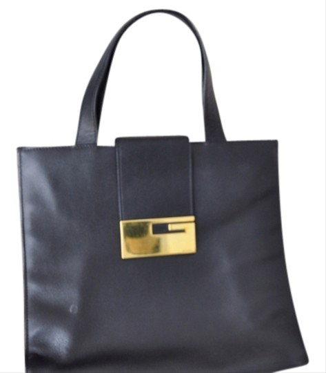 6e7775cae6d422 Gucci Vintage Leather Tote Black | Stanford Center for Opportunity ...