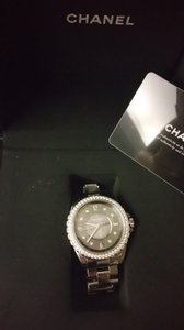 Chanel Authentic Chanel Titanium Chromatic Ceramic J12 Diamond Watch