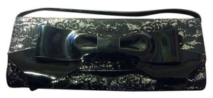 Frederick's of Hollywood Black and Silver Clutch
