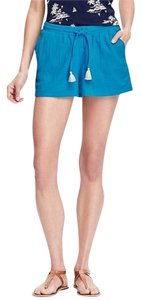 Old Navy Smocked-waist Xl Cotton Cut Off Shorts Blue