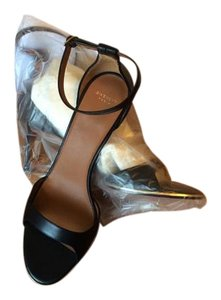 Givenchy Leather Heels Ankle Strap Black Sandals