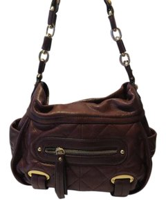 B. Makowsky Leather Soft Classic Shoulder Bag