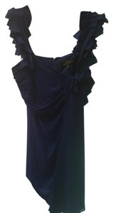 Robert Rodriguez Navy Blue Small Ruffle Top Royal blue