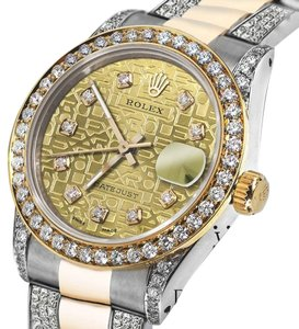 Rolex Women's 31mm Rolex Oyster Perpetual Datejust Gold Jubilee Diamond Dial Accent