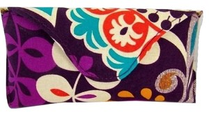 Vera Bradley NEW VERA BRADLEY PLUM CRAZY LARGE HARD FLAP GLASSES CASE