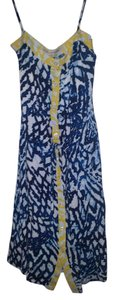Blue white and yellow Maxi Dress by Rachel Roy Boho