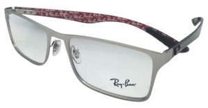Ray-Ban New RAY-BAN Rx-able Eyeglasses RB 8415 2538 53-17 Matte Silver Frames w/ Carbon Fiber