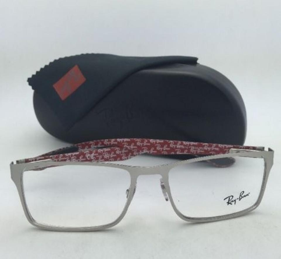 Ray-Ban Rb 8415 2538 53-17 Silver Frames W/ Carbon Fiber New Rx-able ...
