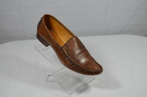 Fendi Driving Leather Vintage Moccasins Brown Flats